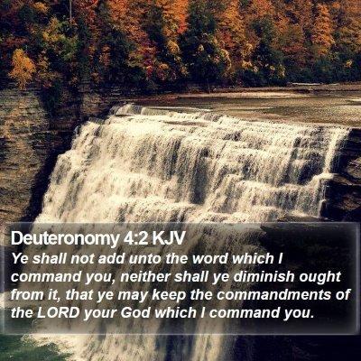 Deuteronomy 4:2 KJV Bible Verse Image