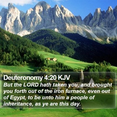 Deuteronomy 4:20 KJV Bible Verse Image