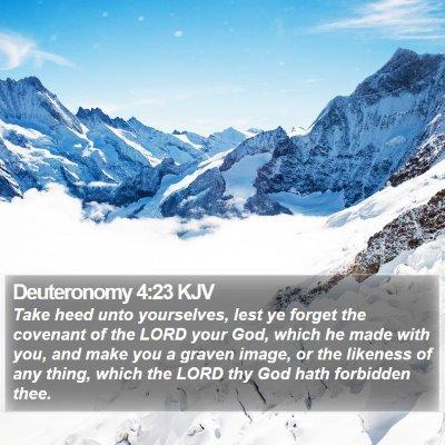 Deuteronomy 4:23 KJV Bible Verse Image