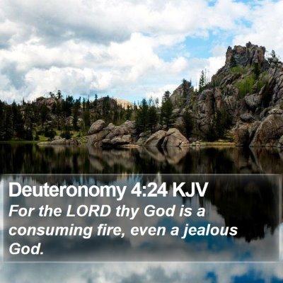 Deuteronomy 4:24 KJV Bible Verse Image
