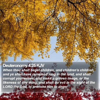 Deuteronomy 4:25 KJV Bible Verse Image
