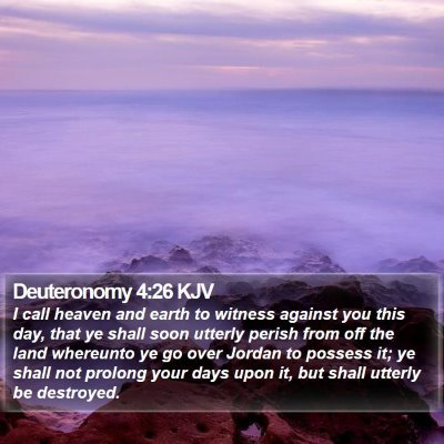 Deuteronomy 4:26 KJV Bible Verse Image