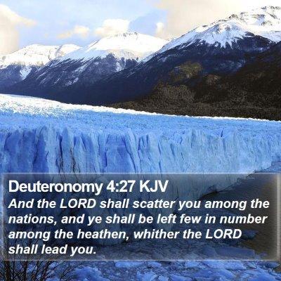 Deuteronomy 4:27 KJV Bible Verse Image