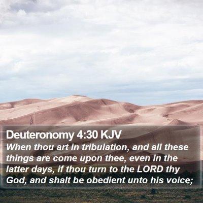 Deuteronomy 4:30 KJV Bible Verse Image