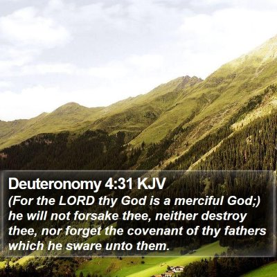 Deuteronomy 4:31 KJV Bible Verse Image