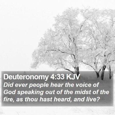 Deuteronomy 4:33 KJV Bible Verse Image