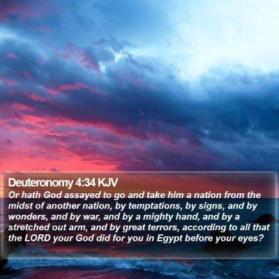 Deuteronomy 4:34 KJV Bible Verse Image