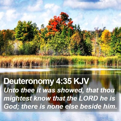 Deuteronomy 4:35 KJV Bible Verse Image