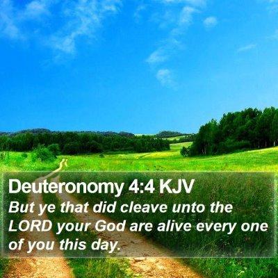 Deuteronomy 4:4 KJV Bible Verse Image