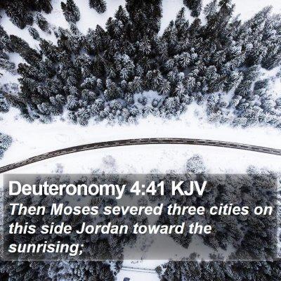 Deuteronomy 4:41 KJV Bible Verse Image