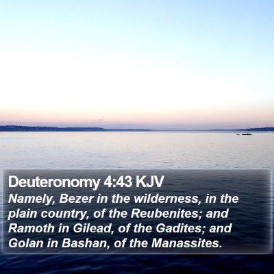Deuteronomy 4:43 KJV Bible Verse Image