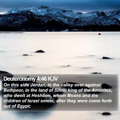 Deuteronomy 4:46 KJV Bible Verse Image