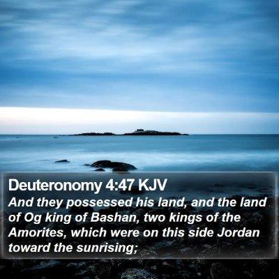 Deuteronomy 4:47 KJV Bible Verse Image