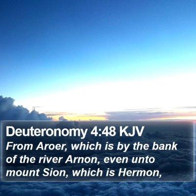 Deuteronomy 4:48 KJV Bible Verse Image