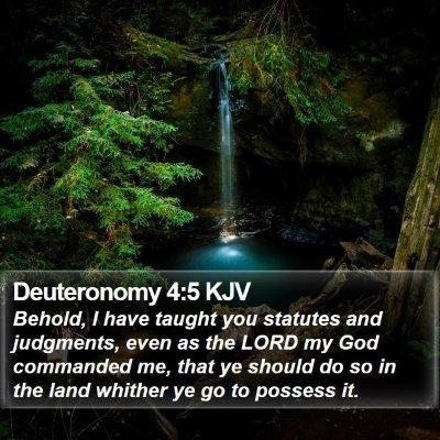 Deuteronomy 4:5 KJV Bible Verse Image