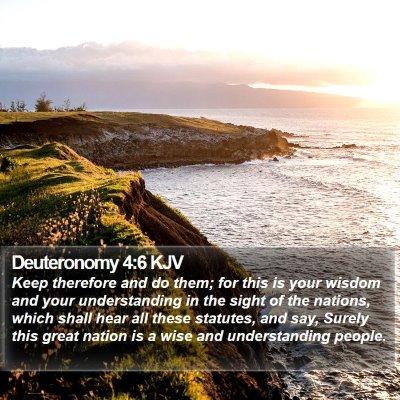 Deuteronomy 4:6 KJV Bible Verse Image
