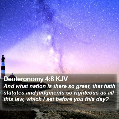 Deuteronomy 4:8 KJV Bible Verse Image