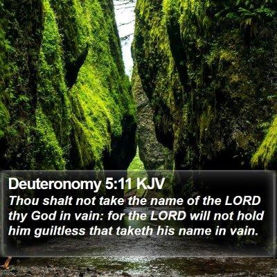 Deuteronomy 5:11 KJV Bible Verse Image