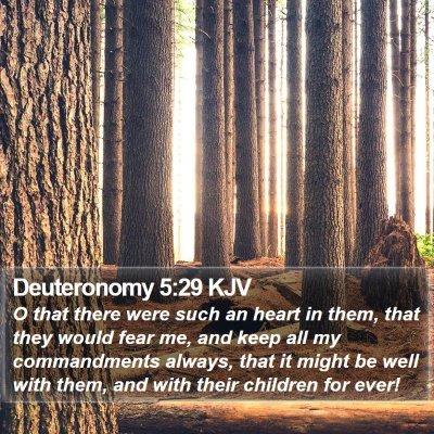 Deuteronomy 5:29 KJV Bible Verse Image