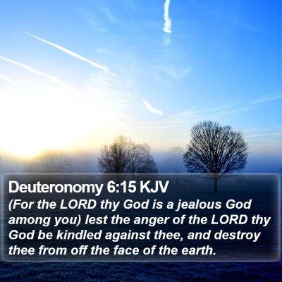 Deuteronomy 6:15 KJV Bible Verse Image