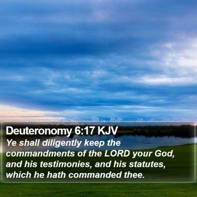 Deuteronomy 6:17 KJV Bible Verse Image
