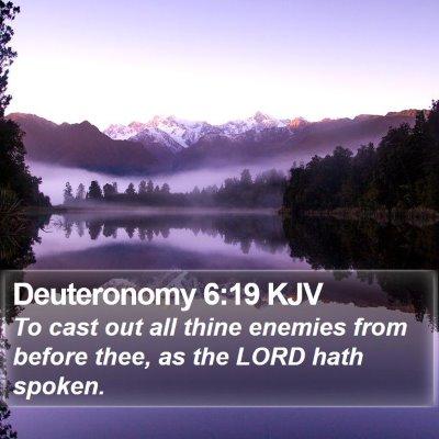Deuteronomy 6:19 KJV Bible Verse Image
