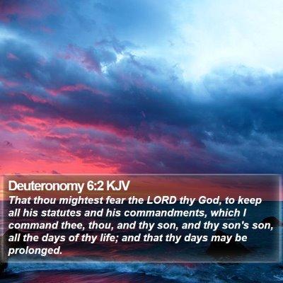 Deuteronomy 6:2 KJV Bible Verse Image