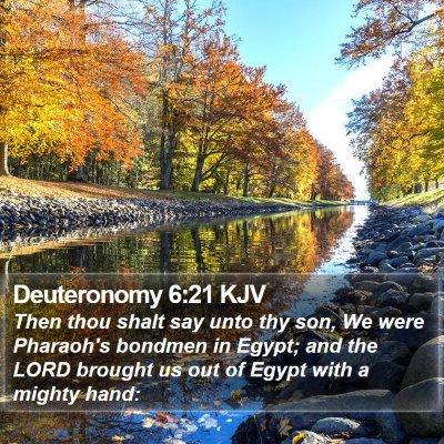 Deuteronomy 6:21 KJV Bible Verse Image
