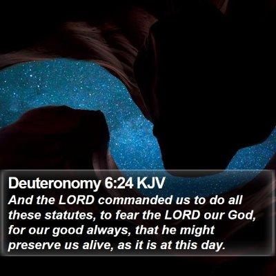 Deuteronomy 6:24 KJV Bible Verse Image