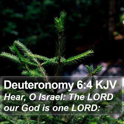 Deuteronomy 6:4 KJV Bible Verse Image