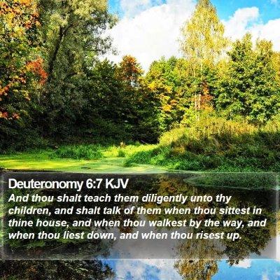 Deuteronomy 6:7 KJV Bible Verse Image