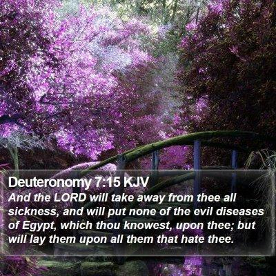 Deuteronomy 7:15 KJV Bible Verse Image