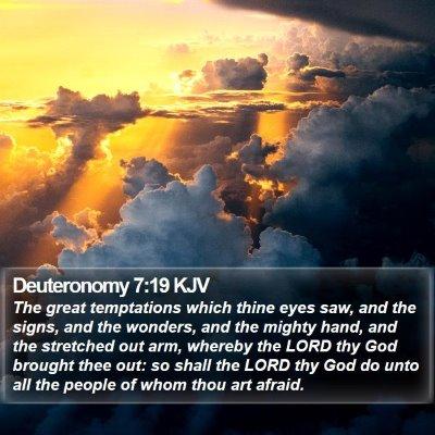 Deuteronomy 7:19 KJV Bible Verse Image