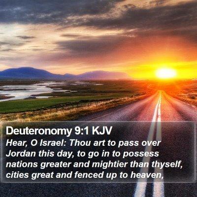 Deuteronomy 9:1 KJV Bible Verse Image