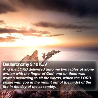 Deuteronomy 9:10 KJV Bible Verse Image