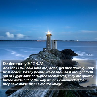 Deuteronomy 9:12 KJV Bible Verse Image