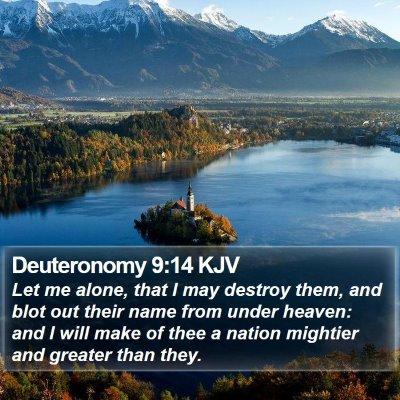 Deuteronomy 9:14 KJV Bible Verse Image