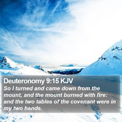 Deuteronomy 9:15 KJV Bible Verse Image