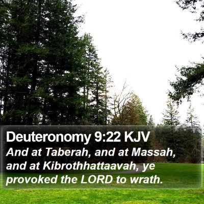 Deuteronomy 9:22 KJV Bible Verse Image