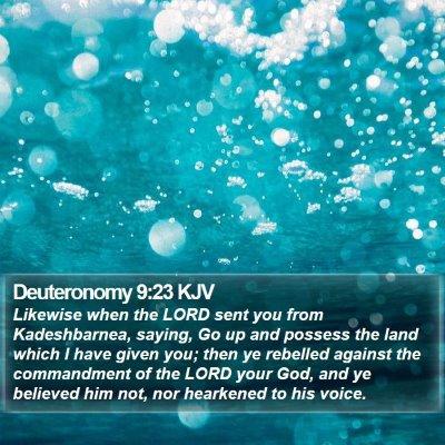 Deuteronomy 9:23 KJV Bible Verse Image