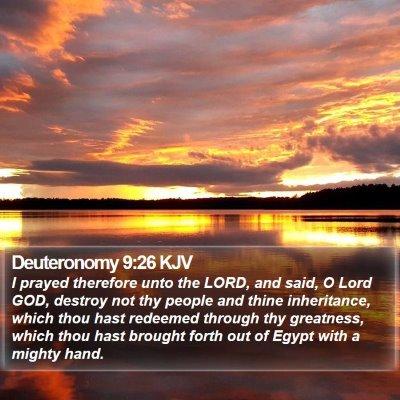 Deuteronomy 9:26 KJV Bible Verse Image