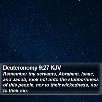 Deuteronomy 9:27 KJV Bible Verse Image