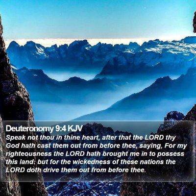 Deuteronomy 9:4 KJV Bible Verse Image