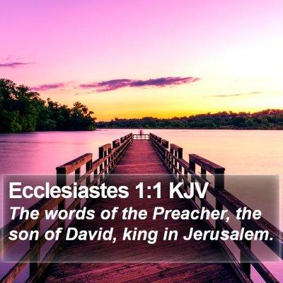 Ecclesiastes 1:1 KJV Bible Verse Image