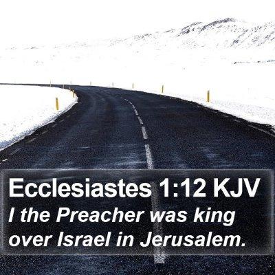 Ecclesiastes 1:12 KJV Bible Verse Image