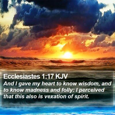 Ecclesiastes 1:17 KJV Bible Verse Image