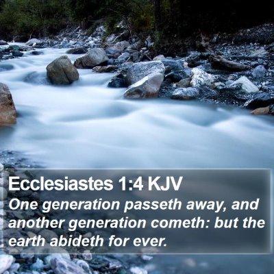 Ecclesiastes 1:4 KJV Bible Verse Image