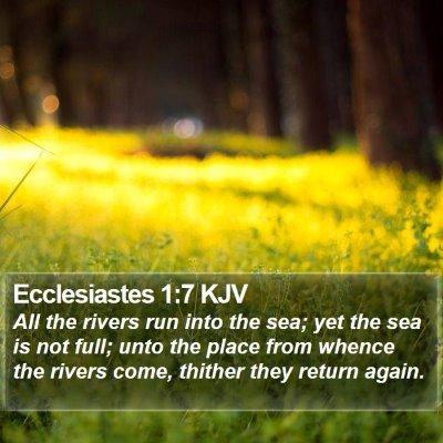 Ecclesiastes 1:7 KJV Bible Verse Image