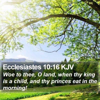 Ecclesiastes 10:16 KJV Bible Verse Image