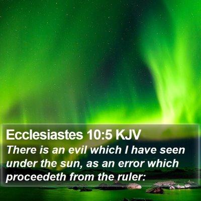Ecclesiastes 10:5 KJV Bible Verse Image